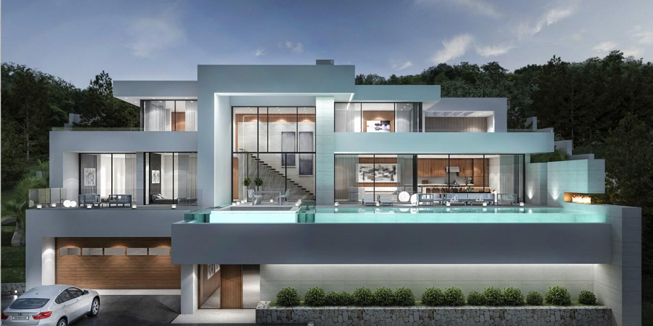 Designerhaus mit meerblick